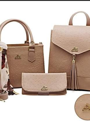 Bolsa feminina kit com 3