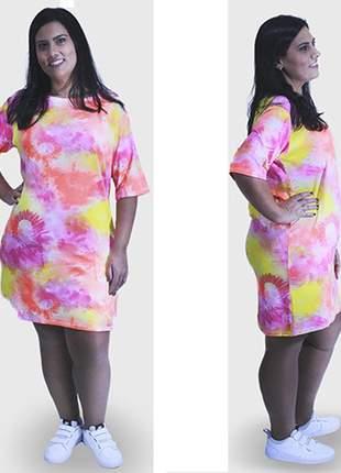 Vestido tie dye colorido moda blogueira promoção
