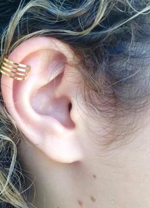 Brinco piercing fake banhado a ouro