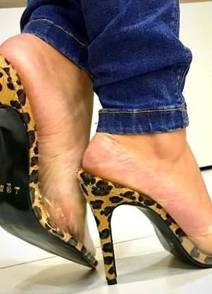 Sandália onça com vinil