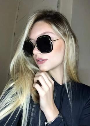 Óculos de sol quadrado grande feminino fashion nova coleção