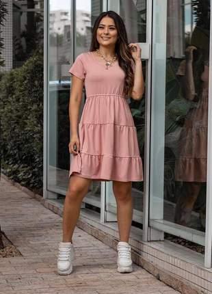 Vestido feminino casual soltinho rose coleção verão