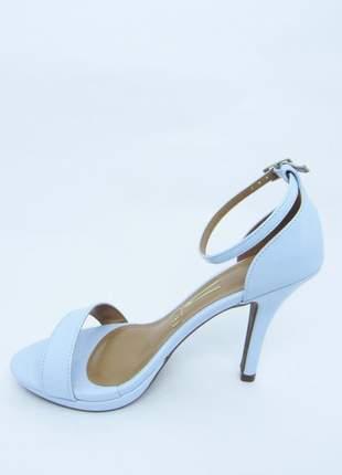 Sandalia feminina azul claro vizzano lovers verniz glam salto alto 10 cm