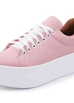 Tênis casual plataforma monocolor mah 153 rosa