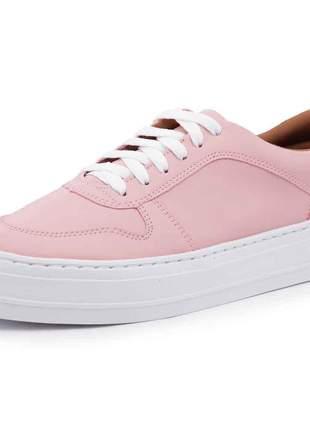 Tênis casual flatform mah 155 rosa