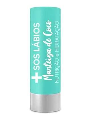 Protetor labial s.o.s lábios manteiga de coco top beauty 3,5gr