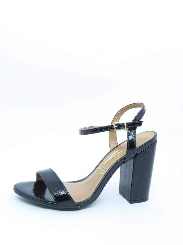 a76f50d1d Sandalia feminina preta vizzano lovers salto grosso verniz glam - R ...