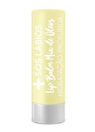 Protetor labial sos lábios lip balm mix de óleo top beauty 3,5gr