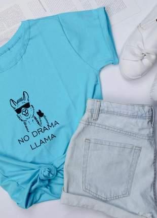 Tshirt blusinha camiseta no drama llama t-shirt malha