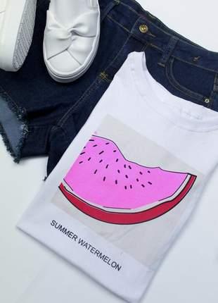 Tshirt blusinha camiseta melancia neon t-shirt malha