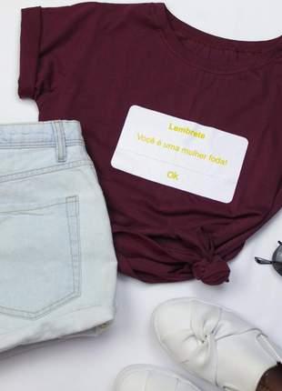 Tshirt blusinha camiseta lembrete você t-shirt malha