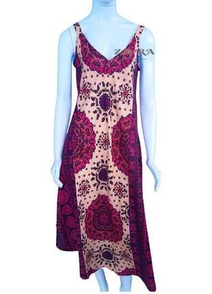 Vestido indiano trapezio estampado