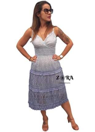 Vestido de renda degrade luxo lilás
