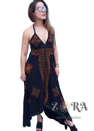 Vestido indiano batik lenço pontas com alça