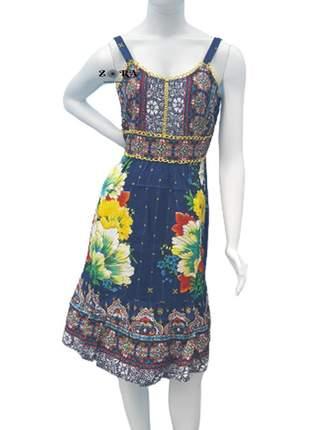 Vestido indiano curto floral