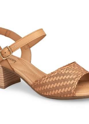 Sandália salto feminina mississipi bertini natural moda