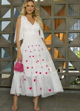 Vestido em tule branco-1193