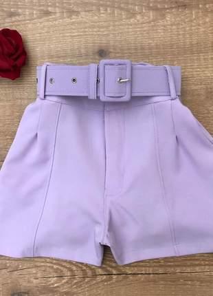 Shorts alfaiataria social com cinto
