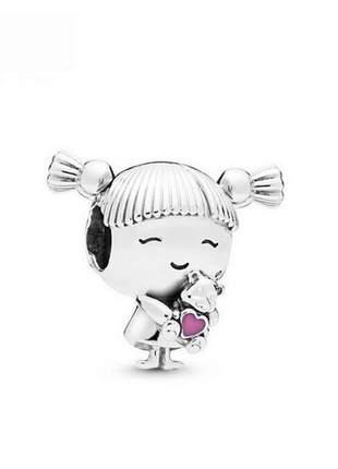 Berloque charm menina criança compatível com bracelete pandora vivara