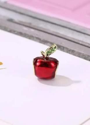 Berloque maça vermelha compatível com bracelete pandora vivara