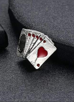 Berloque cartas de baralho compatível com bracelete pandora vivara