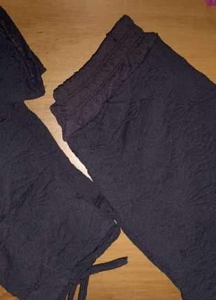 Conjunto shorts saia e cropped