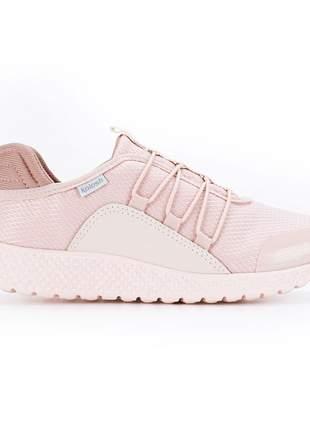 Tênis kolosh esportivo feminino conforto anatomico rosa