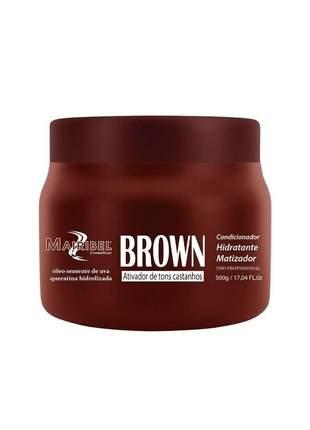 Máscara matizadora casdtanhos brown mairibel 500g