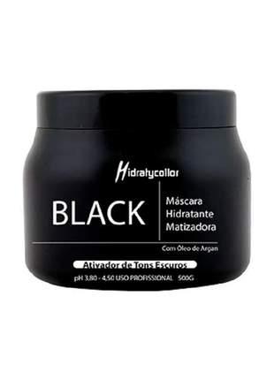 Máscara matizadora para cabelo preto black mairibel 500g