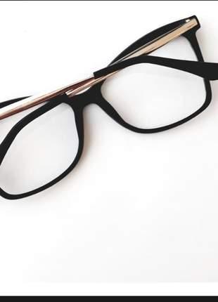 Armação  de oculos grau feminino maxi quadrado gatinho