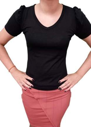 Blusa feminina manga bufante moda tendência