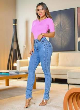 Calça jeans skinny cintura intermediária