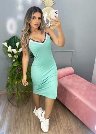 Vestido mid canelado