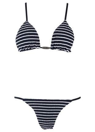 Biquíni New Beach Summer Cortininha Preto Giovanna Ewbank