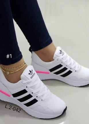 Tênis feminino adidas - leve, macio e confortável - pronta entrega