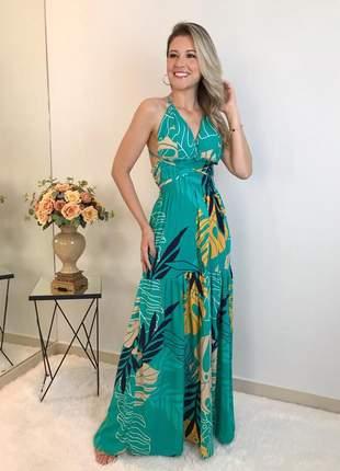 Vestido feminino longo com bojo estampado lançamento verão 2021 moda instagram lindo