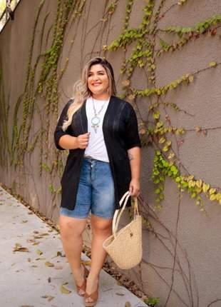 Casaquinho plus tricot feminino