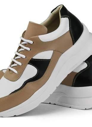 Tênis Dad Sneaker Rebento Couro Chunky Feminino
