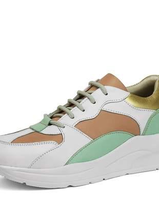 Tênis Sneaker Chunky Color Block Retrô Feminino SapatoFran