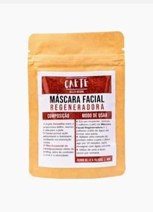 Máscara facial argila vermelha, regeneradora, natural, vegana