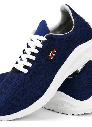 Kit tênis sapatofran casual skateboard vermelho e azul