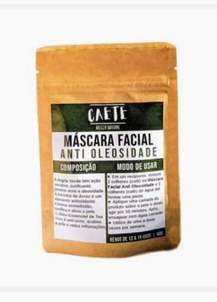 Máscara facial argila verde, detox, anti oleosidade, vegana