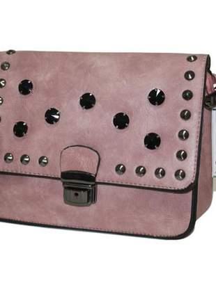 Bolsa feminina transversal marsala / rosa #blackfriday