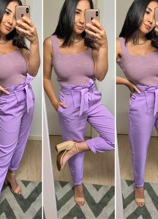 Cropped tricot modal alcinha luxo qualidade moda blogueira lavanda