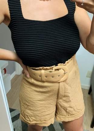Cropped tricot modal alcinha luxo qualidade moda blogueira preto