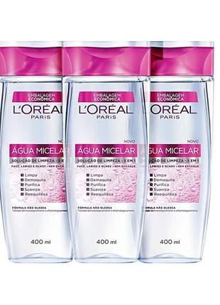 Combo l'oréal paris água micelar 5 em 1 - água demaquilante 3x400ml