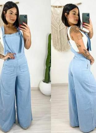 Macacao jardineira jeans