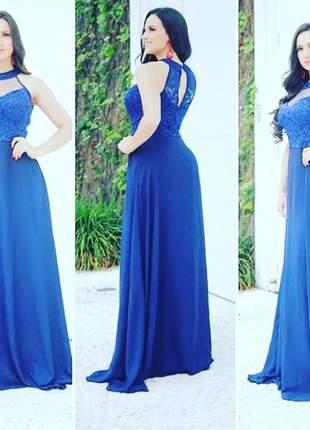 Vestido plus size longo de festa madrinha casamento mãe noivos senhoras cores rosê azul
