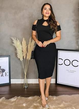 Vestido feminino midi preto