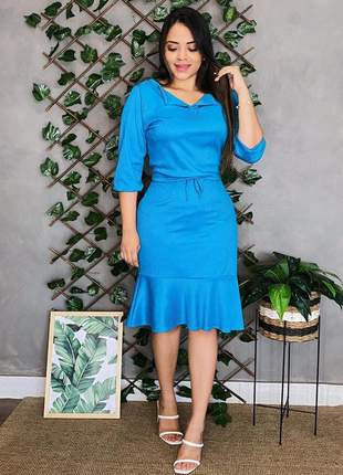Vestido feminino midi moda evangélica
